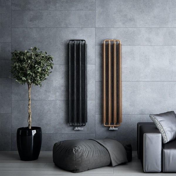 Terma Ribbon V heban black designer radiator 1720 x 290