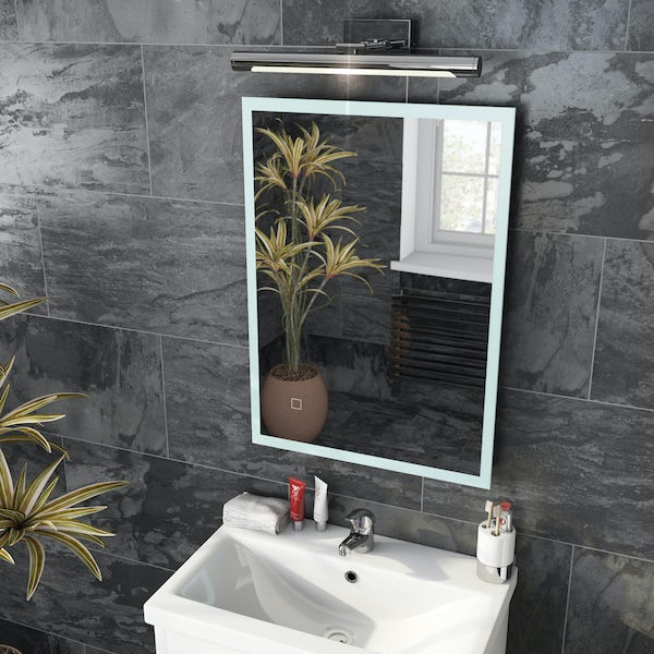 Mode Mayne LED illuminated mirror 500 x 700mm with demister
