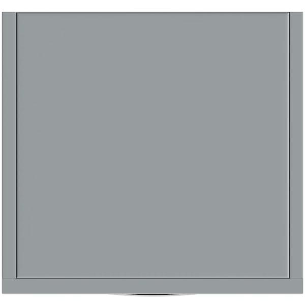 Orchard Elsdon stone grey tall storage unit 330mm