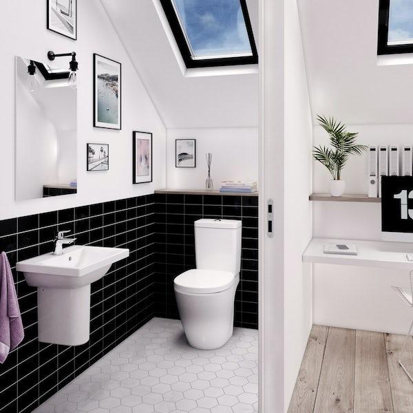 Ideal Standard Concept Space 1 tap hole semi pedestal basin 550mm