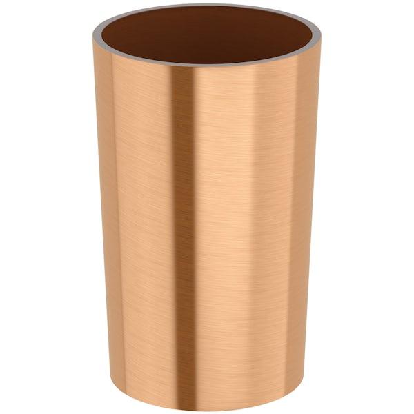 Glaze copper tumbler
