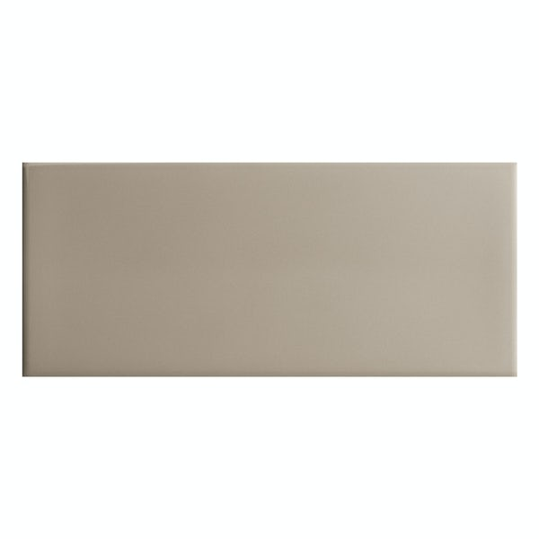 Bordeaux taupe flat gloss wall tile 200mm x 457mm