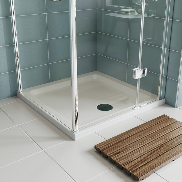Orchard Square stone shower tray