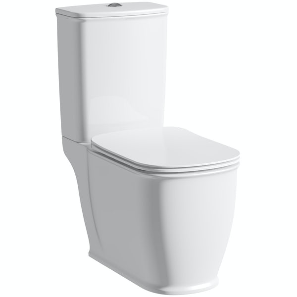 The Bath Co. Beaumont close coupled toilet with soft close seat with pan connector