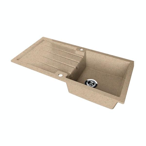 Schon Bosa Sand 1.0 bowl reversible countertop kitchen sink