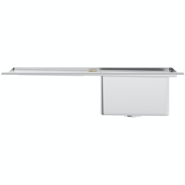 Tuscan Arezzo brushed steel 1.0 bowl left handed kitchen sink
