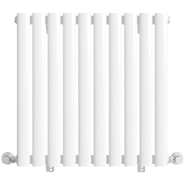 Mode Tate white single horizontal radiator