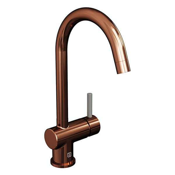 The Tap Factory Vibrance kitchen mixer tap with copper and anthracite grey finish