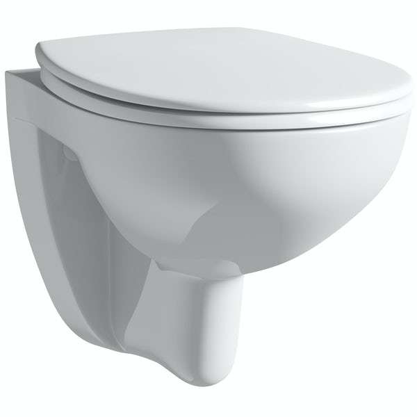 Grohe Bau wall hung toilet with soft close seat