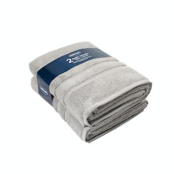 Silentnight set of 2 grey bath towel