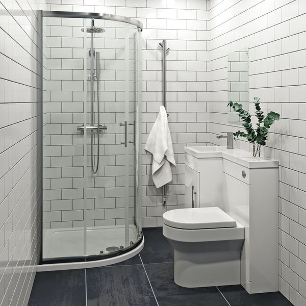 Bordeaux white flat gloss wall tile 200mm x 457mm