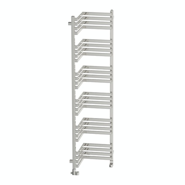 Incorner chrome effect heated towel rail 1545 x 350