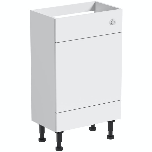 Mode Nouvel gloss white back to wall toilet unit 600mm