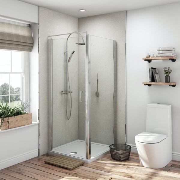 Multipanel Classic Warm Mica Hydrolock shower wall panel