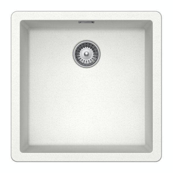 Rangemaster Schock Brooklyn 1.0 bowl granite inset kitchen sink