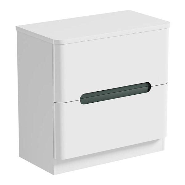 Mode Ellis slate vanity drawer unit and countertop 800mm