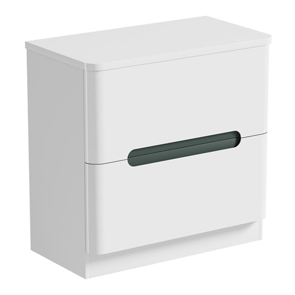 Mode Ellis slate vanity drawer unit and countertop 800mm