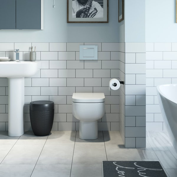 RAK Series 600 back to wall toilet with soft close seat