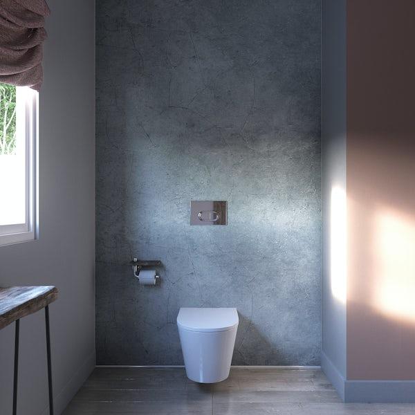 Showerwall Cracked Grey waterproof shower wall panel