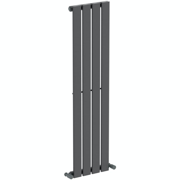 The Heating Co. Tate anthracite grey flat vertical radiator