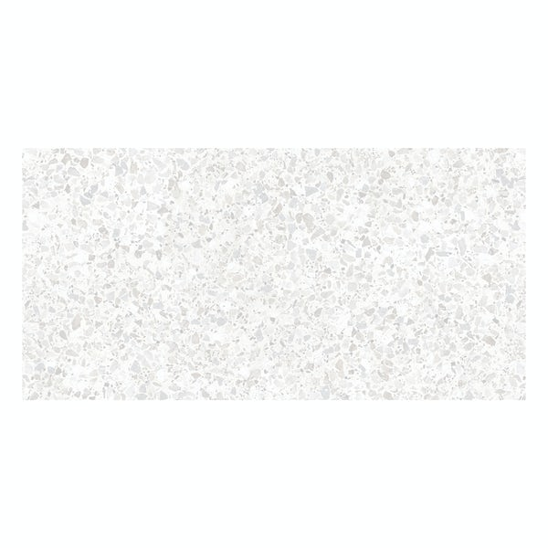 British Ceramic Tile Conglomerate white satin wall tile 248mm x 498mm