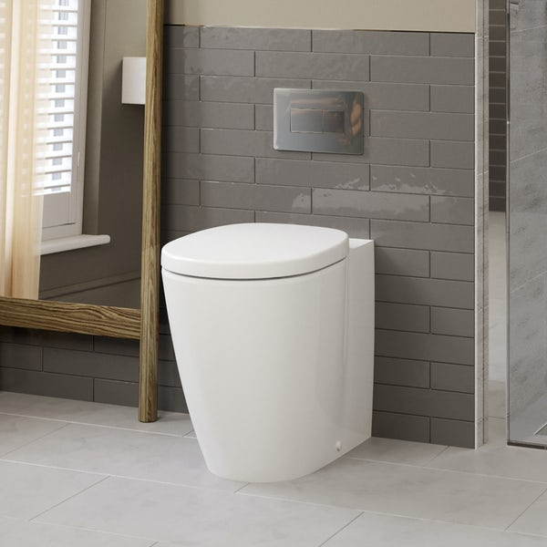Ideal Standard Concept Freedom comfort height back to wall toilet with soft close seat