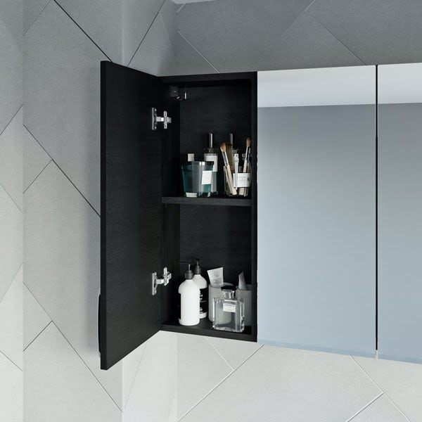 Reeves Nouvel quadro black wall hung cabinet 720 x 300mm