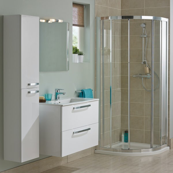 Ideal Standard Tempo complete gloss white furniture ensuite shower enclosure suite 800 x 800