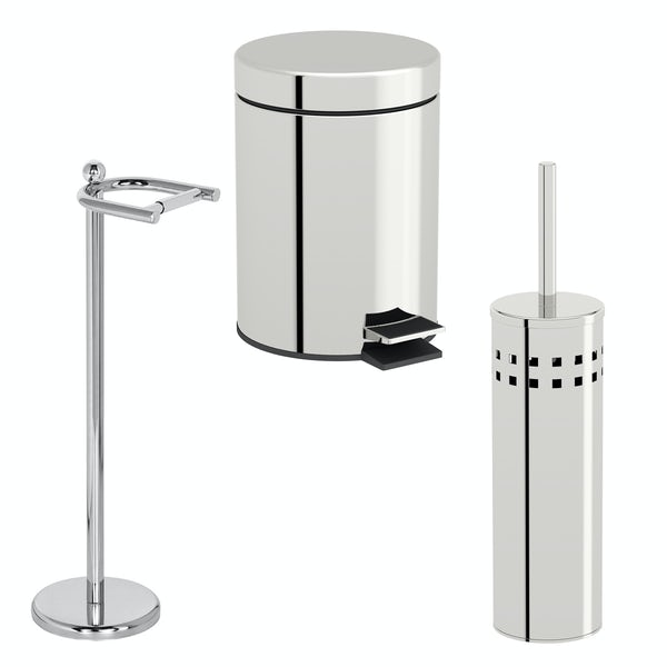 Accents 3 piece freestanding toilet accessory pack
