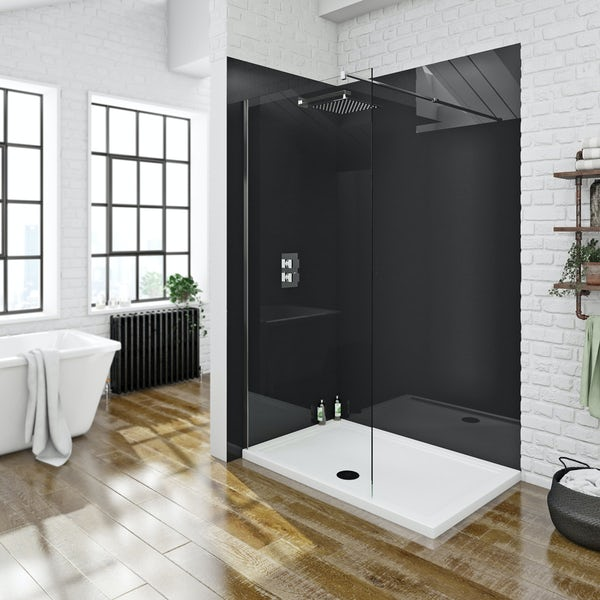 Zenolite plus jet acrylic shower wall panel 2440 x 1000