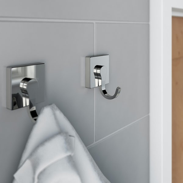 Accents square plate contemporary robe hook