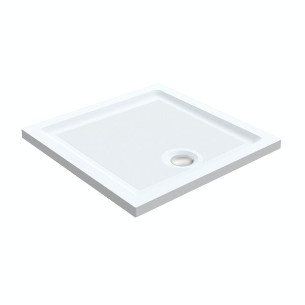 Orchard 6mm pivot shower enclosure with anti-slip tray