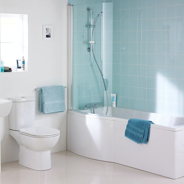 Ideal Standard Tempo left handed shower bath with bath screen and front panel 1700 x 800