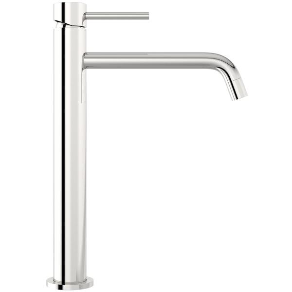 Mode Spencer round chrome high rise basin mixer tap