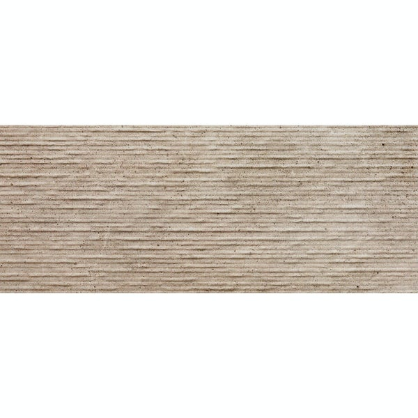 Drift beige textured stone effect matt wall tile 200mm x 500mm