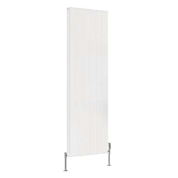 Reina Casina white double vertical aluminium designer radiator