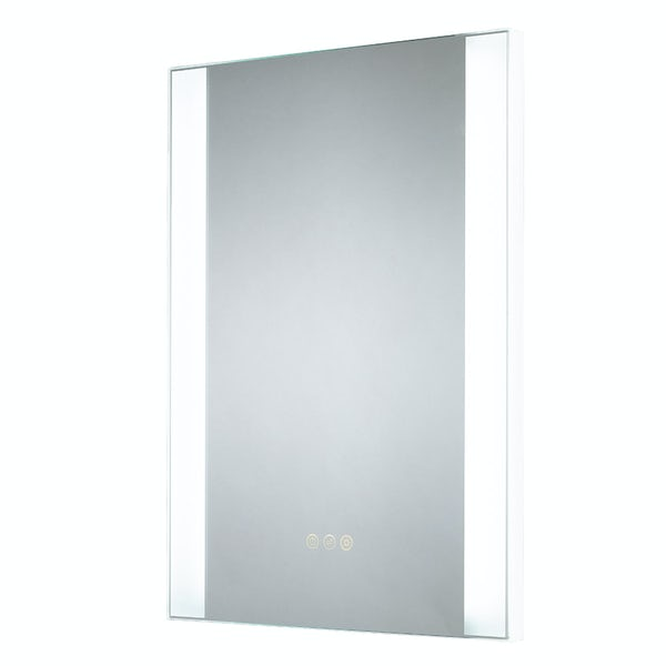 Mode Earl dimmable diffused LED illuminated mirror 700 x 500mm with demister