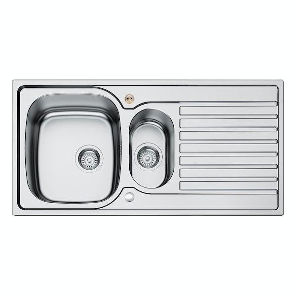 Bristan Inox easyfit universal sink 1.5 bowl stainless steel