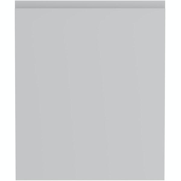 Schon Chicago light grey 600mm integrated dishwasher or fridge fascia