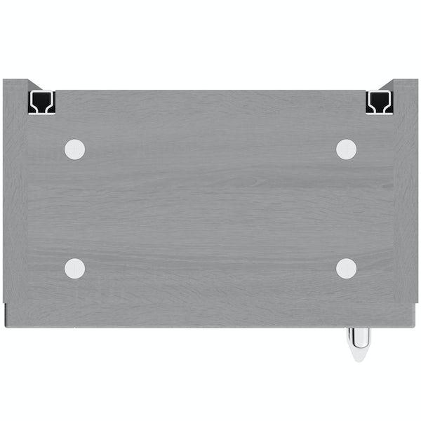 The Bath Co. Newbury dusk grey wall cabinet 300mm
