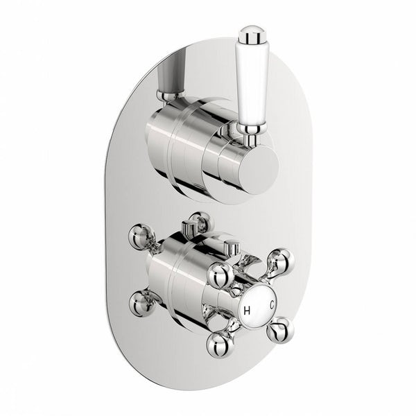 The Bath Co. Dulwich twin thermostatic shower valve