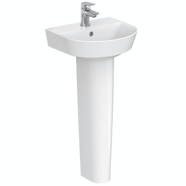 Ideal Standard Concept Air Arc 1 tap hole full pedestal basin 400mm