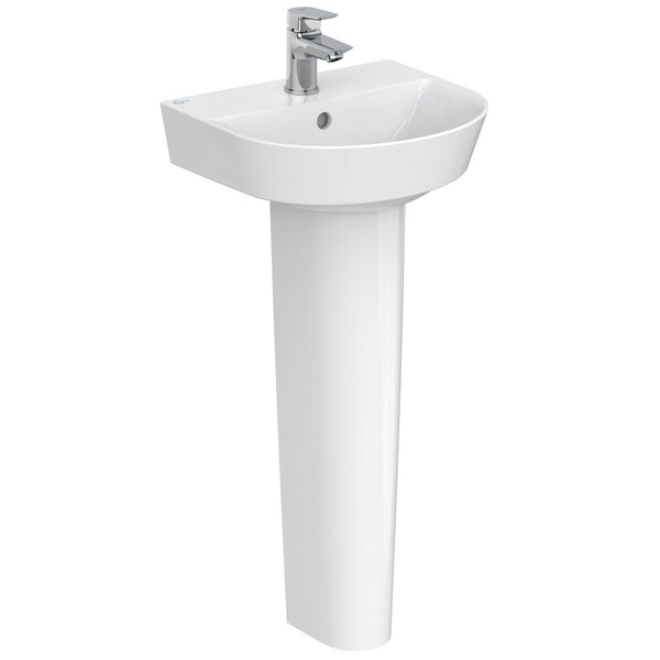 Ideal Standard Concept Air Arc 1 tap hole full pedestal basin 400mm