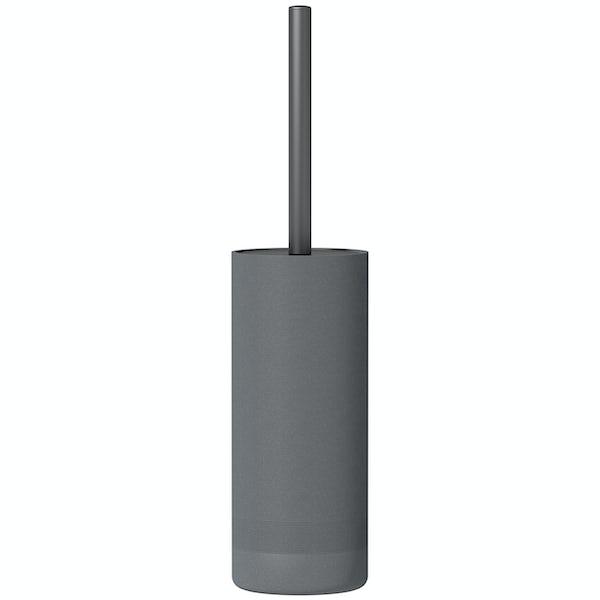 Accents dark grey toilet brush holder