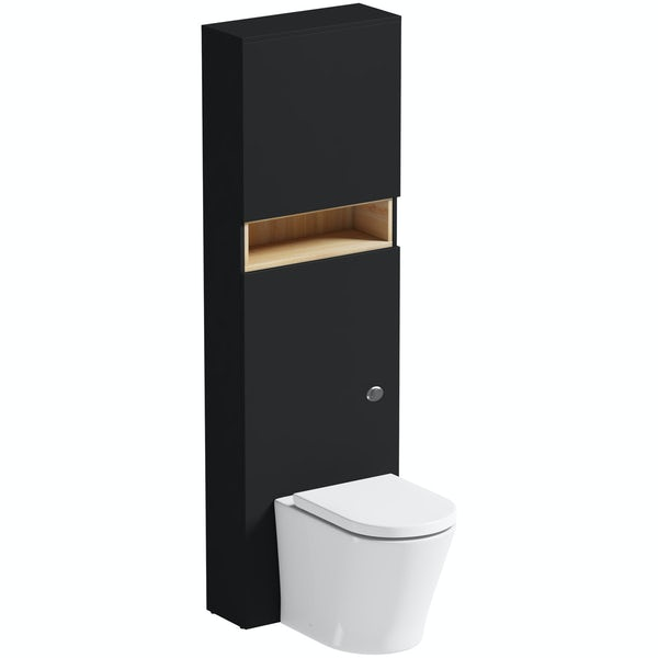 Mode Tate Anthracite Oak Tall Toilet Unit With