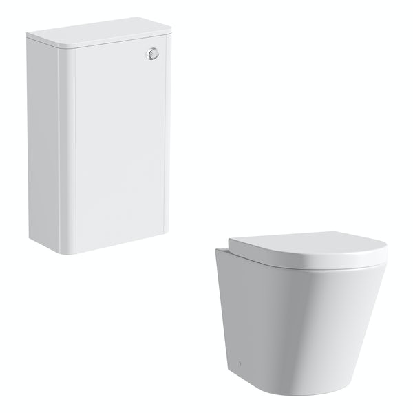 Mode Carter ice white back to wall unit and contemporary toilet with soft close seat