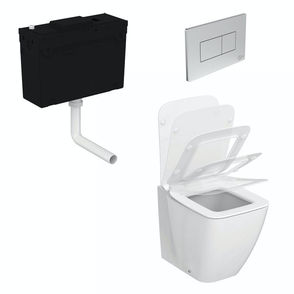 Ideal Standard Strada II back to wall toilet with soft close seat and concealed cistern