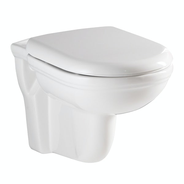 RAK Washington wall hung toilet including soft close seat