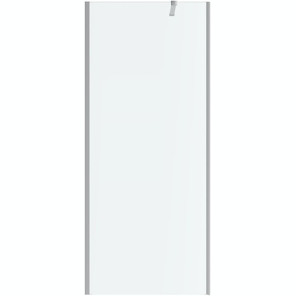 Mode Burton 8mm walk in shower enclosure pack with return panel and walk in tray