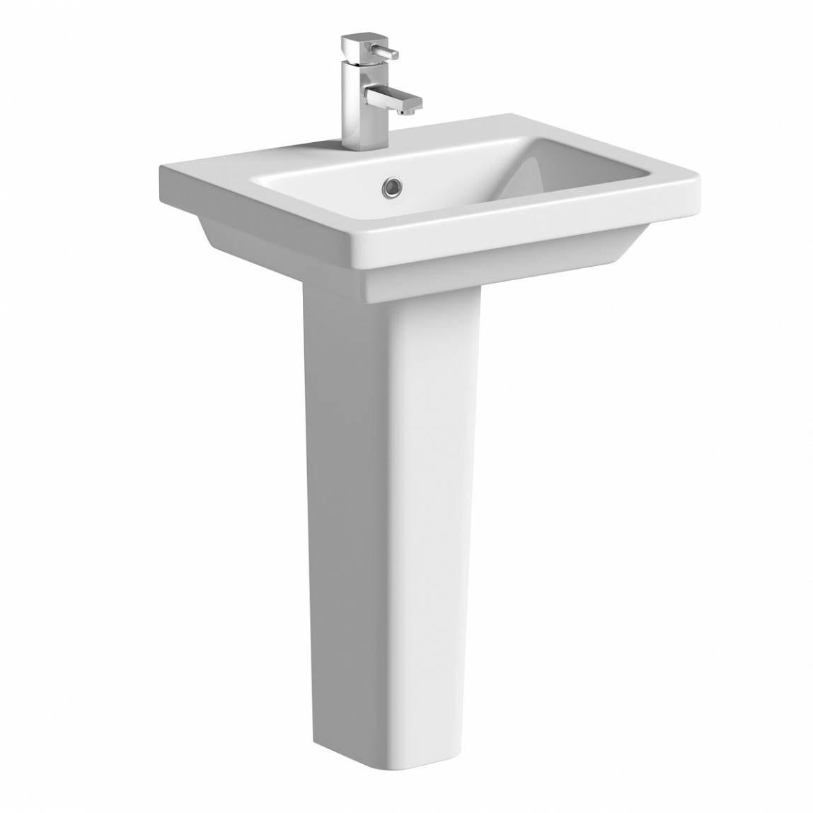 Cooper 1TH 550mm Basin & Pedestal